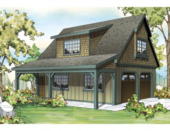 2 car Garage w/Attic - Garge Plan - Front Elevation