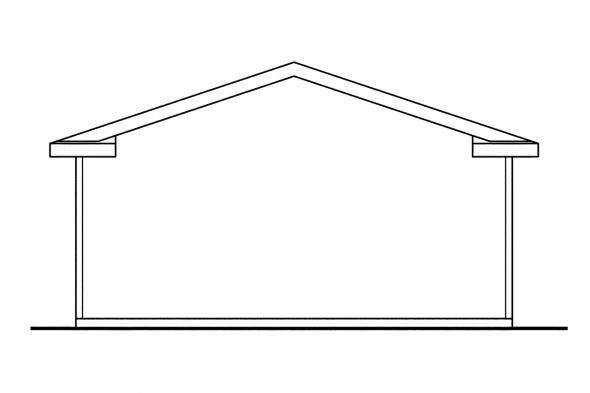 2 Car Garage Plan 20-014 - Left Elevation
