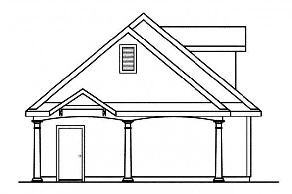 2 Car Garage Plan 20-015 - Left Elevation
