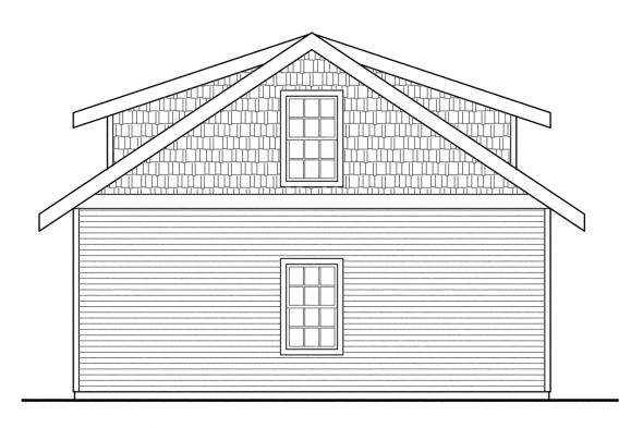 2 Car Garage Plan 20-049 - Left Elevation