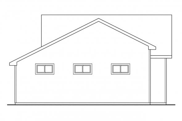 2 Story Garage Plan 20-022 - Left Elevation
