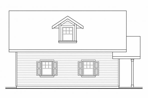 2 Story Garage Plan 20-024 - Left Elevation