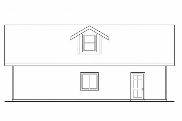 2 Story Garage Plan 20-026 - Right Elevation
