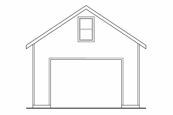 2 Story Garage Plan 20-032 - Right Elevation