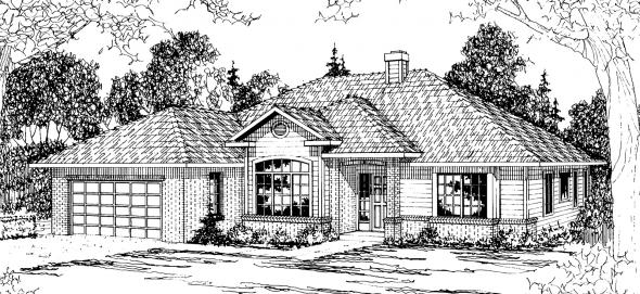 Syracuse - 30-063 - Traditional Home Plans - Front Elevation