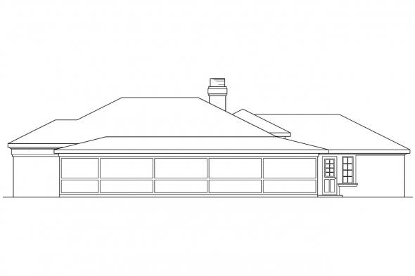 3 Bedroom House Plan - Carrizo 11-010 - Rear Elevation