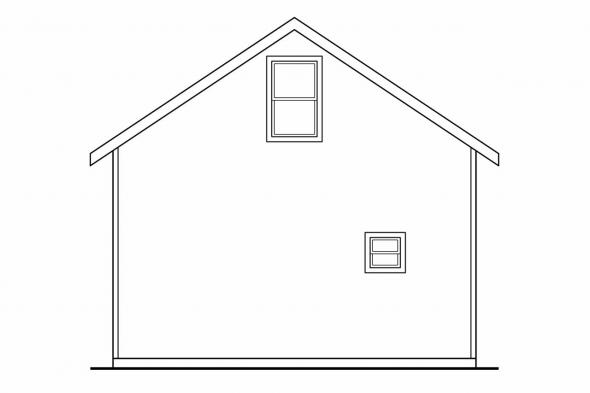 3 Car Garage Plan 20-032 - Left Elevation