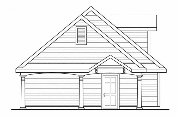 3 Car Garage Plan 20-074 - Left Elevation
