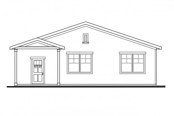 6 Car Garage Plan 20-089 - Left Elevation