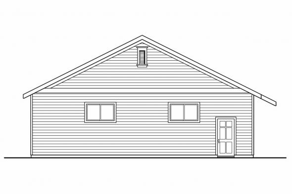 8 Car Garage Plan 20-037 - Left Elevation
