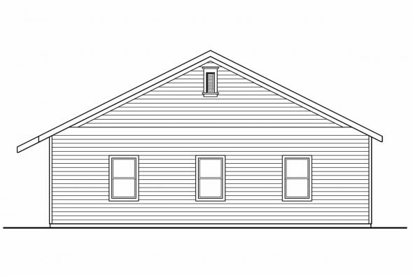 8 Car Garage Plan 20-037 - Right Elevation