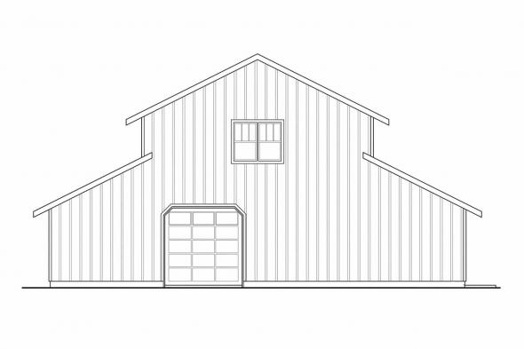 Barn Design 20-059 - Rear Elevation