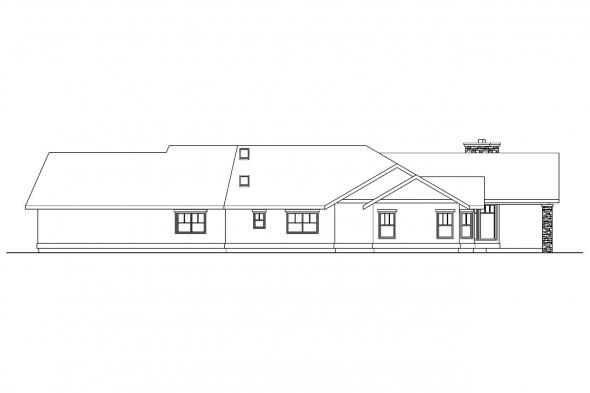 Beach House Plan - Burnside 30-657 - Rear Elevation