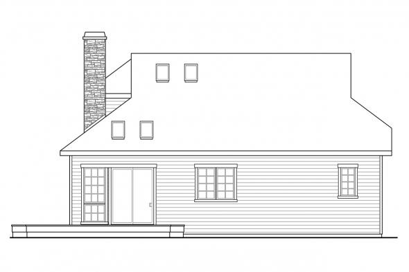 Beach House Plan - Cedar Hill 30-895 - Rear Elevation