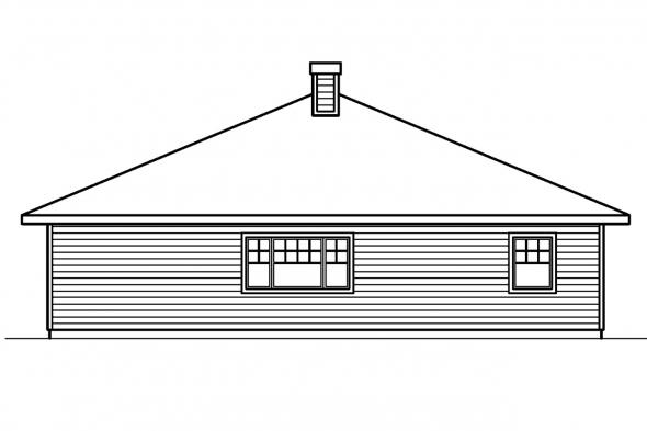 Beach House Plan - Lincoln 30-203 - Rear Elevation