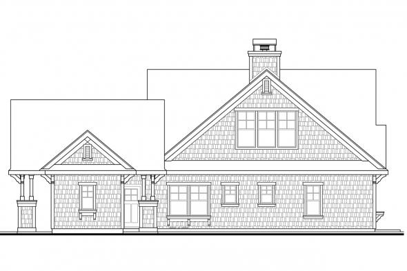 Beach House Plan - Longview 50-014 - Rear Elevation