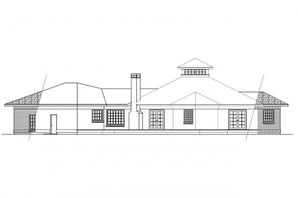 Beach House Plan - Palmyra 10-169 - Rear Elevation