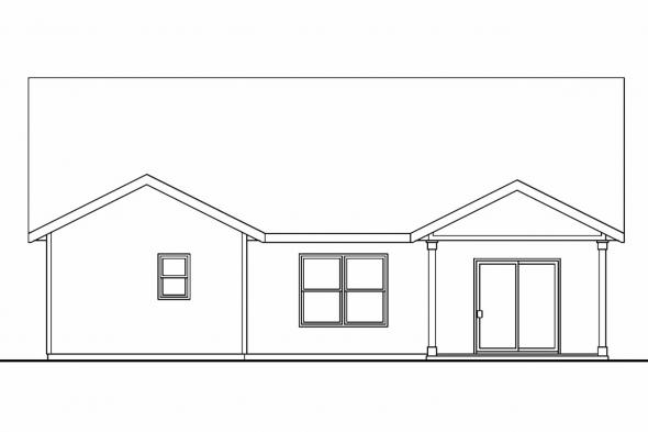 Beach House Plan - Preston 30-675 - Rear Elevation