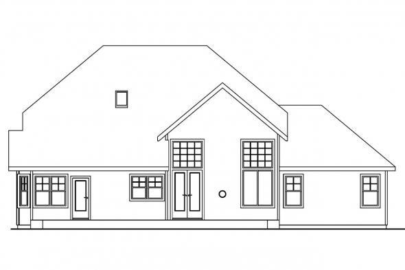 Beach House Plan - Scarborough 30-530 - Rear Elevation