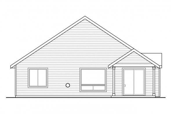 Beach House Plan - Umpqua 30-825 - Rear Elevation