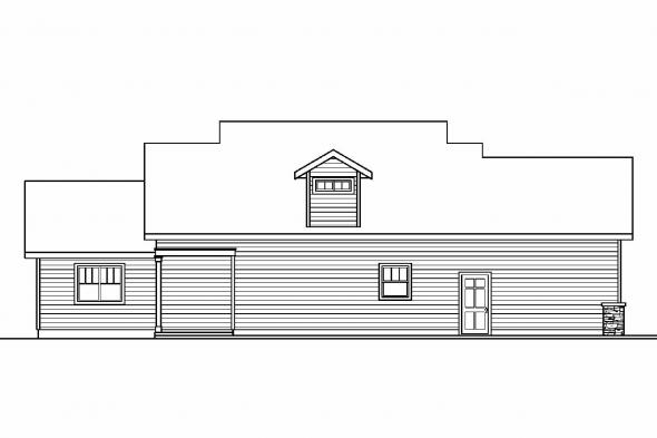 Bungalow House Plan - Rockport 30-707 - Rear Elevation