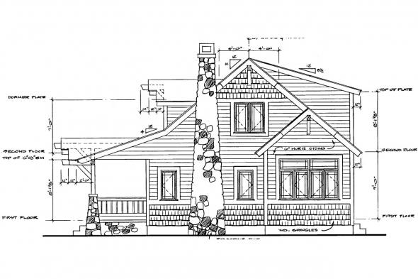 Bungalow House Plan - Absecon 41-011 - Right Elevation