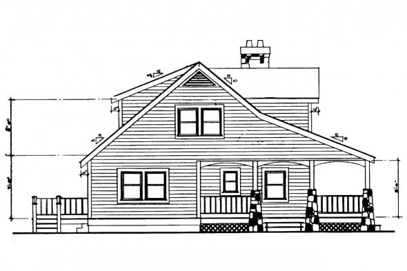 Bungalow House Plan - Altadena 41-006 - Left Elevation