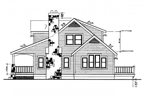 Bungalow House Plan - Altadena 41-006 - Right Elevation
