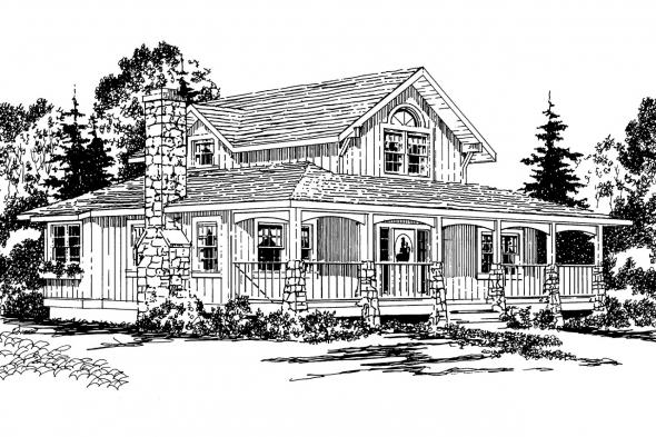 Bungalow House Plan - Alvarado 41-002 - Front Elevation