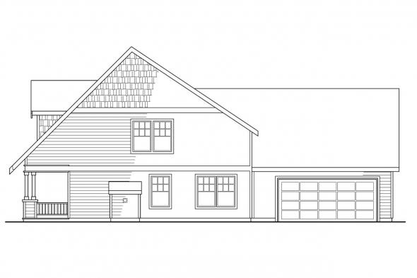 Bungalow House Plan - Ambridge 10-323 - Right Elevation