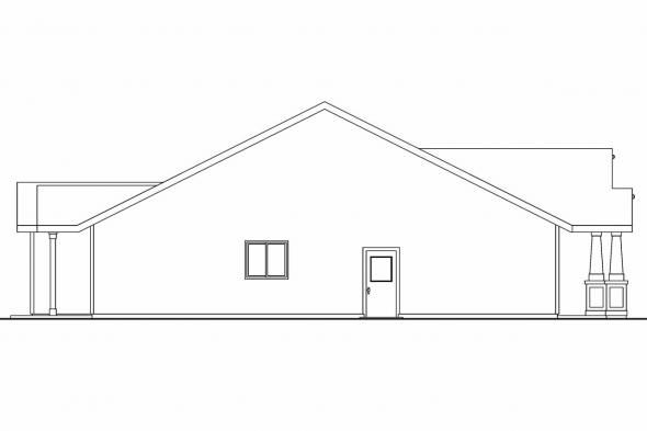Bungalow House Plan - Preston 30-675 - Left Elevation