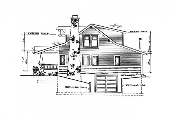Bungalow House Plan - Tuckahoe 41-013 - Right Elevation