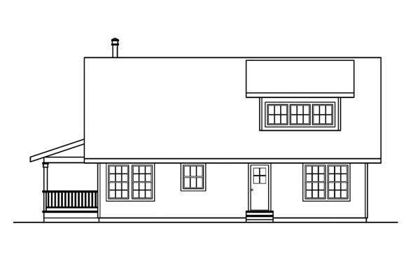 Cabin Plan - Arden 30-329 - Right Elevation