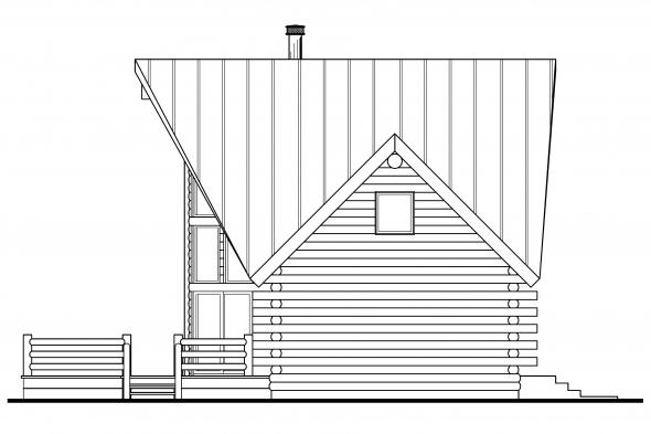 Cabin Plan - Chinook 30-011 - Right Elevation
