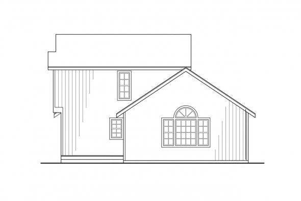 Cabin Plan - Riverview 51-003 - Rear Elevation