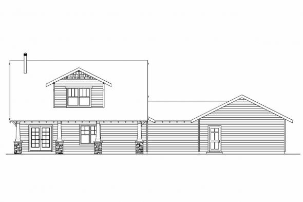 Cabin Plan - Wisteria 30-655 - Rear Elevation