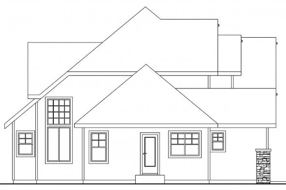 Cape Cod House Plan - Scarborough 30-530 - Left Elevation