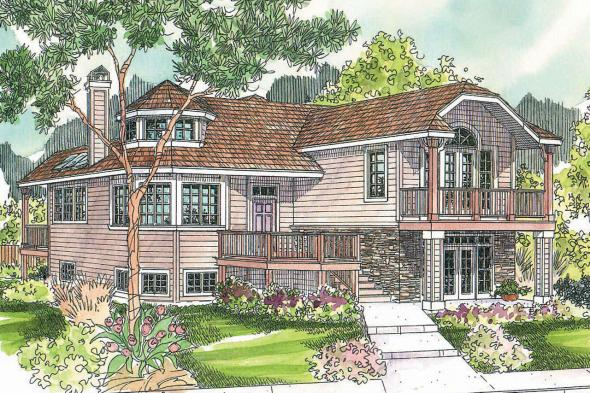 Cape Cod House Plan - Sherbrooke 30-371 - Front Elevation