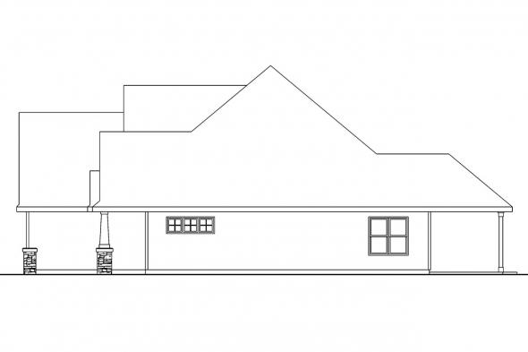 Cape Cod House Plan - Wilsonville 30-517 - Right Elevation