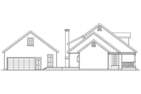 Cape Cod House Plan - Wyndmere 30-038 - Left Elevation