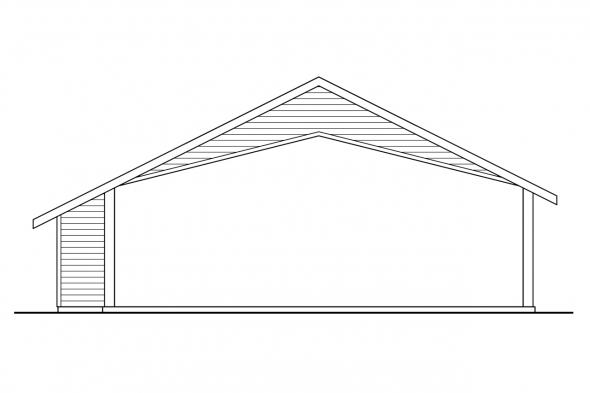 Carport Design 20-048 - Rear Elevation