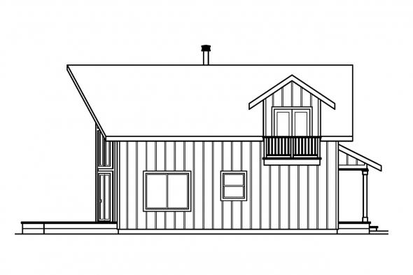 Chalet House Plan - Arnett 30-419 - Left Elevation