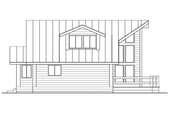 Chalet House Plan - Sylvan 30-023 - Left Elevation