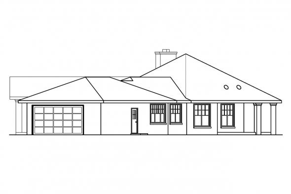 Chateau House Plan - Aberdeen 10-428 - Right Elevation