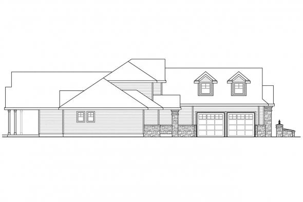 Chateau House Plan - Canyonville 30-775 - Left Elevation