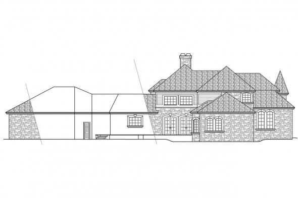 Chateau House Plan - Wilshire 10-031 - Left Elevation