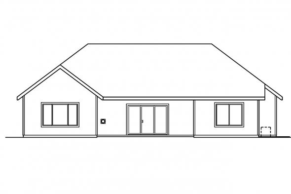 Classic House Plan - Anderson 30-467 - Rear Elevation