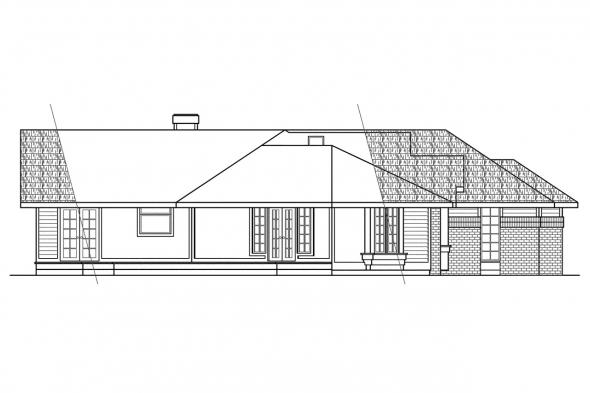 Classic House Plan - Bainbridge 10-049 - Left Elevation