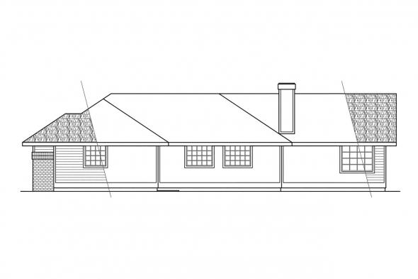 Classic House Plan - Bainbridge 10-049 - Right Elevation