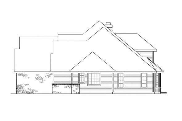 Classic House Plan - Bennington 30-088 - Right Elevation